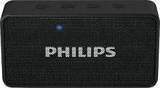 Philips BT64B/94 Black Bluetooth Speaker FM Micro SD Slot Audio In Vat Bill