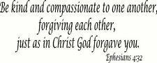 Ephesians 4:32, Bible verse wall decals, scripture, Vinyl Art, stickers, love