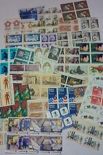 100 Assorted Mixed Designs Partial Panes &  Pieces of 8 ¢ US Stamps. FV $8.00