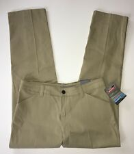 NWT Women's Dickies Khaki Relaxed Fit Chino Pants-Sz 6P