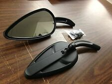 BLACK BILLET VINTAGE STYLE MIRROR FOR HARLEY DAVIDSON 1965 TO PRESENT