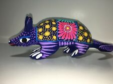 Ceramic Clay Armadillo Figurine Hand-painted Guerrero Mexican Folk Art