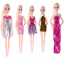 5PCS Fashion Handmade Mini Party Evening Dress Clothes Outfit For Barbie Dolls