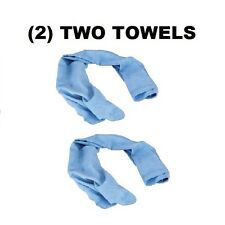 (2) TWO Ergodyne 6602 Chill-Its Blue Evaporative Cooling Towels Light BLUE NEW!