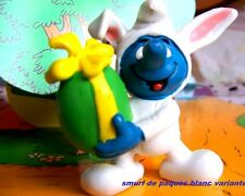 20491  Schtroumpf paques lapin blanc Smurf puffi pitufo puffo schtroumpfette