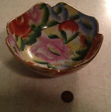 Beautiful Ceramic Foral Bowl Unknown maker