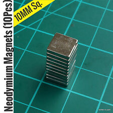 Strong Rare Earth Neodymium Magnets (10Pcs) 10mm Square