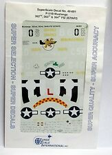 1/48 SuperScale Decals 48-691 P-51B MUSTANGS 362nd 363rd 364th FS/357th FG mint