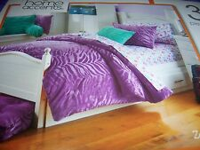 Home Accents Full / Queen Mini Comforter Smams Set 3pc Lilac Zebra Mink Purple