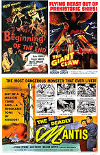 BEGINNING OF THE END 1957,THE GIANT CLAW 1957,THE DEADLY MANTIS 1957 GIANTS!