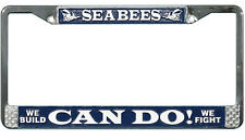 US NAVY SEABEES HIGH QUALITY METAL LICENSE PLATE FRAME - MADE IN THE USA!!