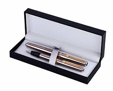 Inoxcrom Excellence Wall Street Fountain & Ballpoint Pen Set Stainless Gift Box
