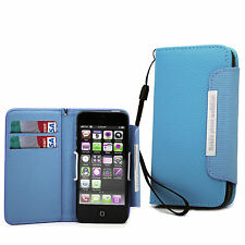 Wallet Leather Flip Case Book Cover For Apple IPhone 4 4S / 5 5S/ 5C / Touch 4