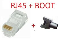 NT Cat 6, Cat 5e RJ45 RJ-45 Connector -  Box of 100 Nos with Free 50 Nos BOOT