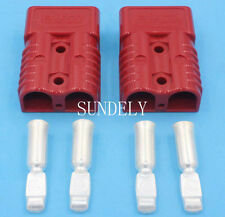 2 X 175 AMP Anderson Style Plug red Connectors 24V 12V DC