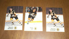 THREE 1988-89 ESSO BOSTON BRUINS HOCKEY CARDS - RAYMON BOURQUE & BOBBY ORR