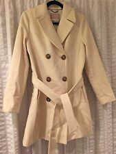 NWT Banana Republic Ivory/Cream Belted Winter Coat   M