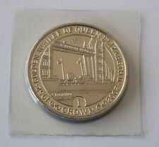 GOLDEN JUBILEE OF QUEEN ELIZABETH II 2002 GIBRALTAR 1 CROWN COIN UNC