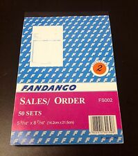 """Sales Order Book / Receipt Book ~ 50 Duplicate Forms ~ Carbonless,  5.5""""x8.5"""""""