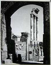 PHOTO ARGENTIQUE GATELLIER à BOULOGNE 1954 ROME ITALIE RUINES ANTIQUES  j307