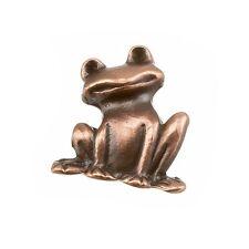 Cuivre antique pendentif charme grenouille 19x22mm boîte de un (B103 / 3)