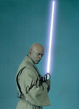 Samuel L JACKSON Mace WINDU Star Wars SIGNED Autograph 16x12 Photo AFTAL COA