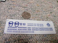Herald King decals HO Allegheny Northern ANR Always on the Move blue  ZZ13
