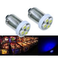 50x #1893 #44 #47 #1847 BA9S 4SMD LED Pinball Machine Light Bulb Blue 6.3V