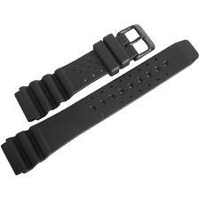 22mm Bonetto Cinturini 285 Black PVD BUCKLE Italian Rubber Dive Watch Band Strap