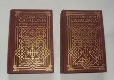 LETTERS FROM CATALONIA: Spain / Spainish History / Gerona / Valencia 2 Vols 1905