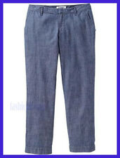 "*NEW Old Navy Womens Chambray Capris (23,5"") Mid Tone Chambray Size 2"