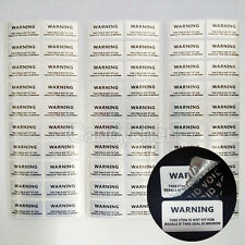 100Pcs Warranty Stickers Seals Void Security Labels Removed Tamper Proof Evident