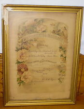 1908 Marriage Certificate - Reynolds McKinsey - Chestnut Level Lancaster PA