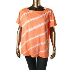 INC 9211 Womens Orange Tie-Dye Embellished Casual Top Shirt Plus 1X BHFO