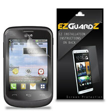 4X EZguardz LCD Screen Protector Skin Cover Shield HD 4X For LG 306G (Clear)