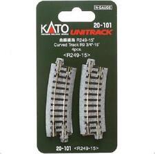 Kato 20-101 Rail Courbe / Curve Track R249mm 15° 4pcs - N