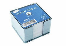 400 Loose Memo Sheets Jotter Block with Plastic Cube Holder Office Note Organise