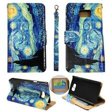For Samsung Galaxy Note 5 N920 Ck Wallet Blue Design Cover Case Uni