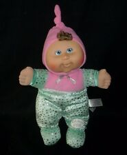 "12"" 2008 CABBAGE PATCH KIDS BABY PINK GREEN SOFT STUFFED ANIMAL PLUSH TOY DOLL"