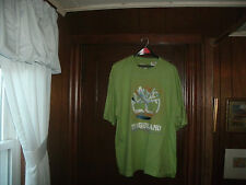 timberland t-shirt S/S lime green with BIG LOGO size XL/TG Brand NEW
