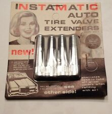 1972 Fedtro Instamatic Tire Valve Extenders NOS vintage Old Car Chrome