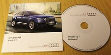 Genuine Audi q7 2015-2016 a bordo DISCO CD Manuale Manuale 162.565.4m0.88