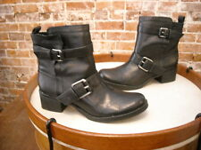 Sole Society Kai Black Leather Biker Moto Ankle Boot 8 NEW