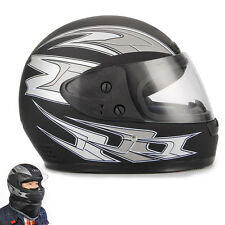 Black Full Face Road Helmet Flip Up Sun Shield for Motorcycle Motocross Bike
