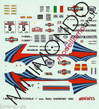 DECALS LANCIA DELTA HF INTEGRALE WINNER RALLY SANREMO 1992 AGHINI 1/43 MERI KITS