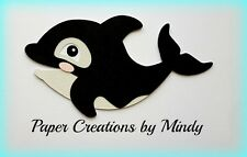 Craftecafe Mindy Orca diving boating travel premade paper piecing scrapbook page