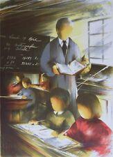 POULET Raymond - Le maître d'école - Lithographie signée/numérotée 450ex