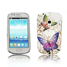 Design Strass No.3 Back Cover Case  Samsung Galaxy S3 Mini + Displayschutzfolie