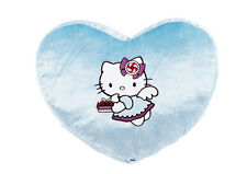 Vintage Sanrio Hello Kitty Blue Angel Dessert Cake Memory Foam Heart Pillow