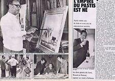 COUPURE DE PRESSE CLIPPING 1974 L'Empire du Pastis Ricard Pernod (2 pages)